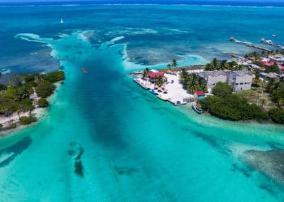 Caye Caulker Aerial View
