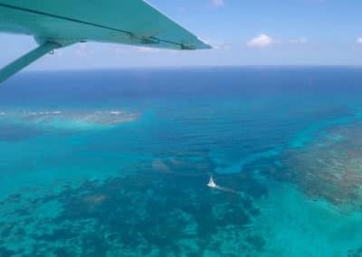 Aerial Belizean Barrier Reef View