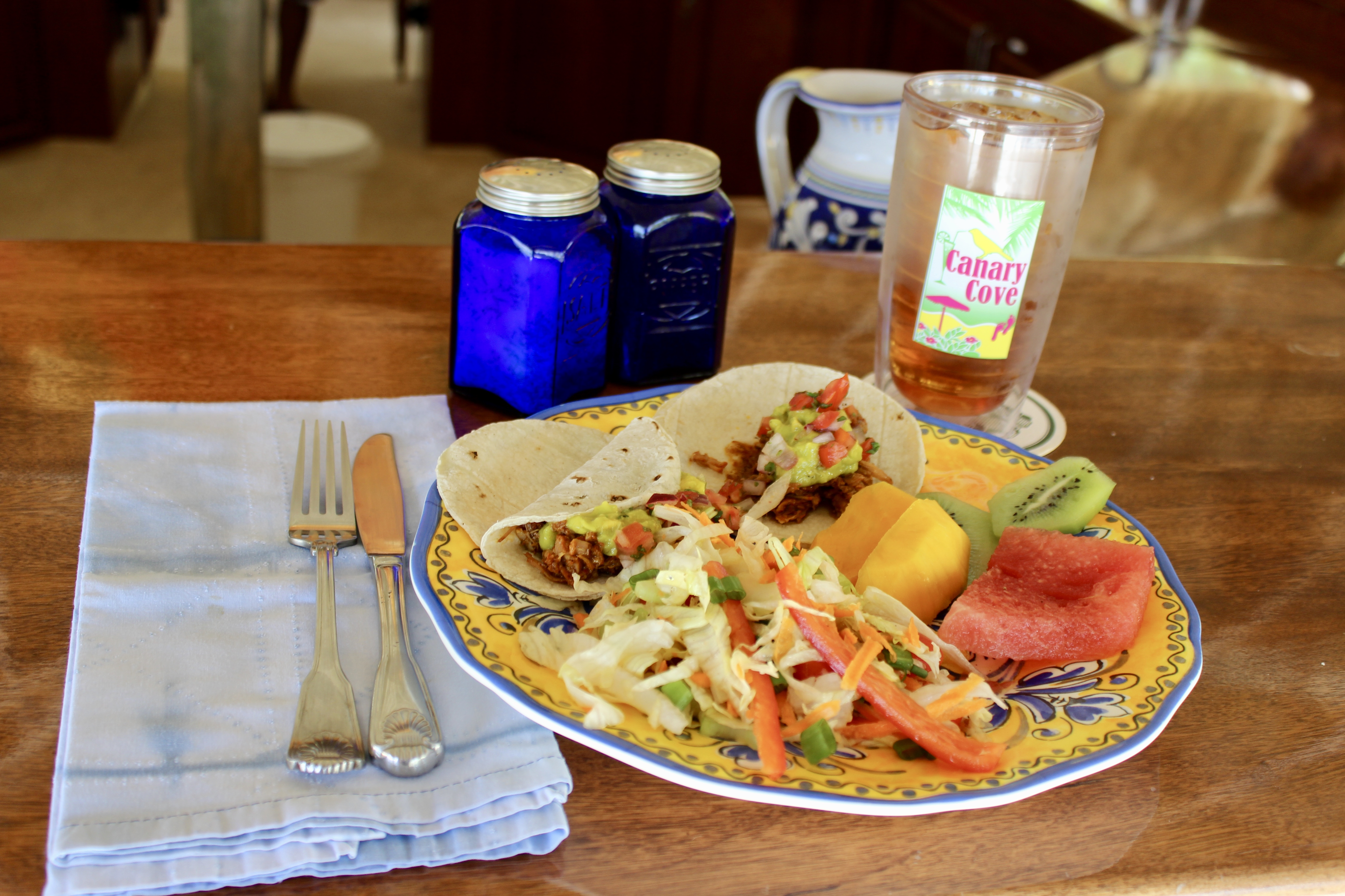 Canary Cove Private Chef-Prepared Lunch: Pulled Pork Tacos, Fresh Salad & Fruit