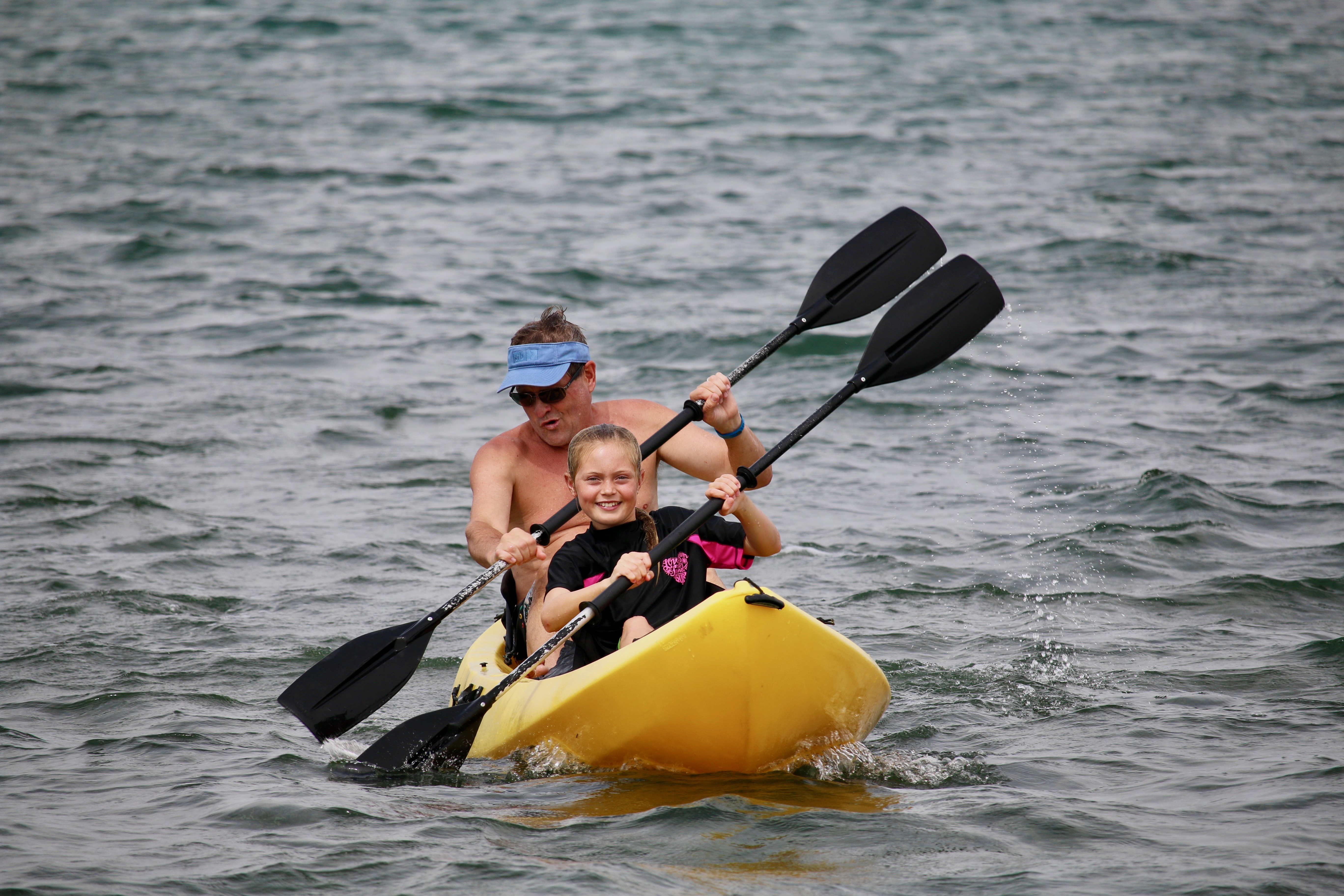 Canary Cove Guests Kayaking