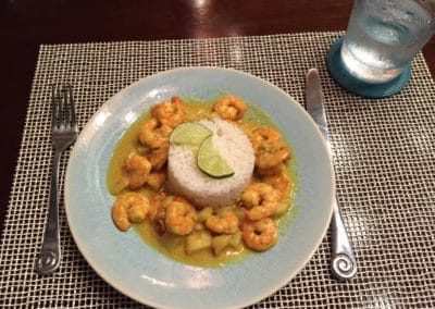 Canary Cove Private Chef-prepared Shrimp Dinner